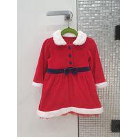Платье наряд костюм M&S Новогодний Деда мороза, Снегурочки. 12-18 мес. На 1-2 года.  Классный мягенький наряд на Новый год и для фотосессии. Очень мило смотрится на девочке.  Одето 1 раз для фото, сос