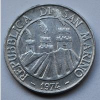 Сан-Марино, 10 лир 1974 г.