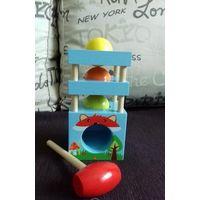 Стучалка игрушка деревянная