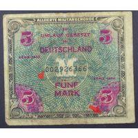 5 марок 1944г. амер. оккупация -с F-