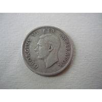 1 шиллинг  .1937(серебро)