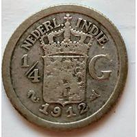 Голландская Ост-Индия 1/4 гульдена, 1912 1-7-48