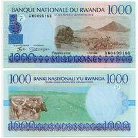Руанда. 1000 франков (образца 1998 года, P27, UNC)