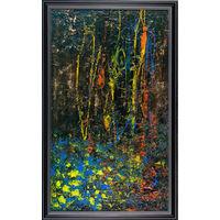 """Картина """"Черный лес"""" (холст, масло, акрил) 73,5*45,5см"""