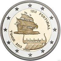 500 летие открытия португальского Тимора 2015 2 евро из ролла  корабль