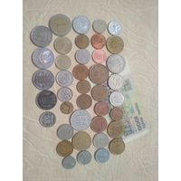 Сборный набор из 40 шт (разные года) +1 бон+Маврикий 1 рупия 2012,СБ6