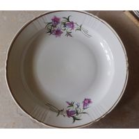 Большая глубокая тарелка- блюдо советский фарфор (Дружковский ФЗ в Донбассе)