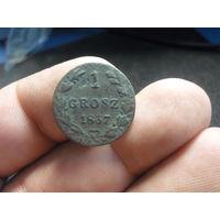 1 грош 1837 г. нечастый Российская Империя для Польши