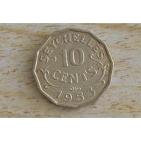 Сейшелы/Сейшельские острова/ 10 центов 1953  Нечастая!