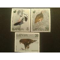Латвия 1995 птицы полная серия