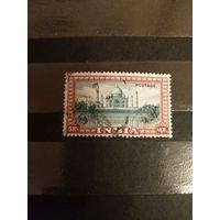 1949 Индия Мих 204 оценка 1,5 евро  архитектура Тадж Махал(5-6)