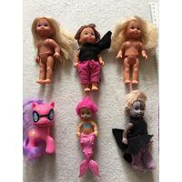 Маленькие куколки пони 6 шт одним лотом