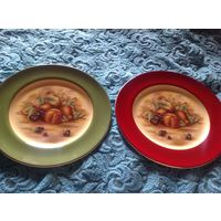 Тарелка коллекционная Aynsley Англия костяной фарфор 2шт