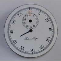 """Эмалевый циферблат на секундомер  """"Павелъ Буре"""" Швейцария. Диаметр 4.5 см. До 1917г."""