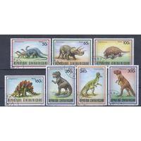 [167] ЦАР 1988.Фауна.Динозавры. Гашеные марки.