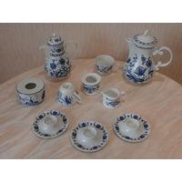 Набор посуды 9 предметов фарфор луковая роспись (рисунок) Германия.