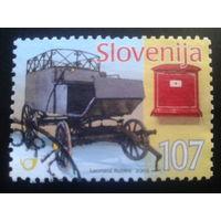 Словения 2005 почтовая телега