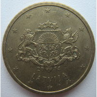 Латвия 50 евроцентов 2014 г.