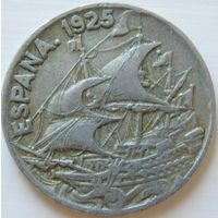 5. Испания 25 сантимов 1925 год*