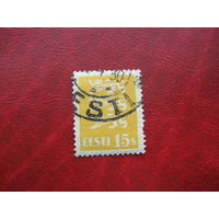 Марка стандарт 15 сантим 1928 год Эстония