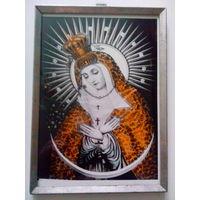 Икона католическая Божией Матери 1970-х-1980-х.
