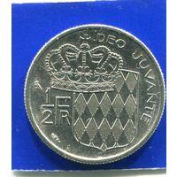 Монако 1/2 франка 1965