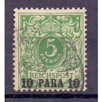Германия Почта в Турции 10 пара/5 пф 1889 г