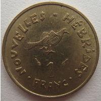 Новые Гебриды 1 франк 1975 г.