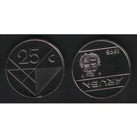 Аруба _km3 25 центов 1995 год (ba) (b06)