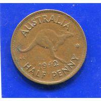Австралия 1/2 пенни 1942, Georg VI