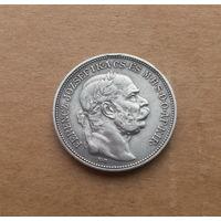 Австро-Венгрия, 2 кроны 1912 г. (для Венгрии), серебро, Франц Иосиф I (1848-1916)