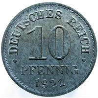Германия 10 пфеннигов 1921 (456)
