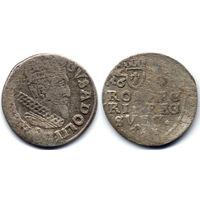 Трояк (3 гроша) 1632, Шведская Ливония, Густав II Адольф, Эльблонг. Достаточно редкая монета