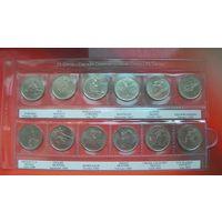 Канада 2007-09 набор памятных монет к Олимпиаде в Ванкувере 25 центов (квотер)
