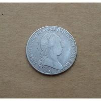 Австрия (для австр. Нидерландов), Иосиф II (1780-1790), 1/2 кроненталера 1788 г., серебро