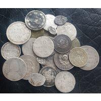 Лот разных серебрях, с 10 копеек!