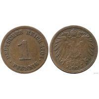 YS: Германия, Рейх, 1 пфенниг 1904D, KM# 10