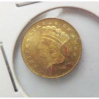 1 золотой доллар США 1860 (копия)