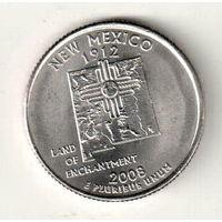 США квотер 2008 штат Нью-Мексико