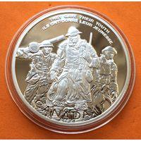КАНАДА Proof 30 долларов 2006 г СЕРЕБРО (925) Национальный военный мемориал