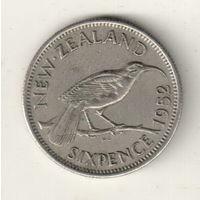 Новая Зеландия 6 пенс 1952