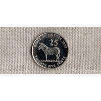 Эритрея 25 центов 1991 1997 /фауна//(Sx)