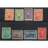 Болгария Надпечатки новых номиналов 1924 год чистая полная серия из 8-ми марок