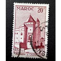 Марокко 1955 г. Замки. Архитектура. 1 марка #0036-A1