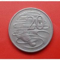 68-03 Австралия, 20 центов 1968 г. Единственное предложение монеты данного года на АУ
