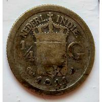 Голландская Ост-Индия 1/4 гульдена, 1911 (R) 1-7-49