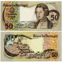 Португалия. 50 эскудо (образца 1968 года, P174a, подпись 3, UNC)