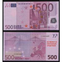 Сувенир - Евросоюз 500 евро 2002 год n209