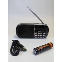 Радиоприемник Часы Aibo UN-09 Дисплей USB microSD