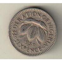 Нигерия 6 пенс 1959
